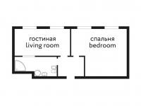 Двухместный двухкомнатный представительский люкс